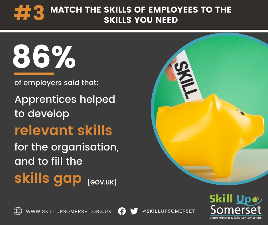 Match the skills you need to your employees